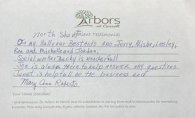 Roberts Testimonial